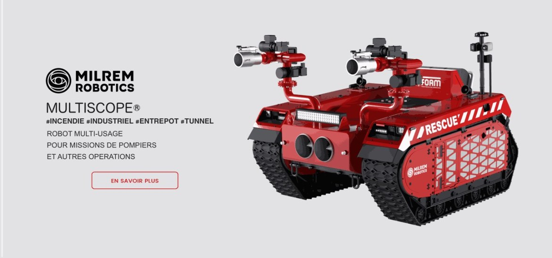 Multiscope robot d'intervention incendie