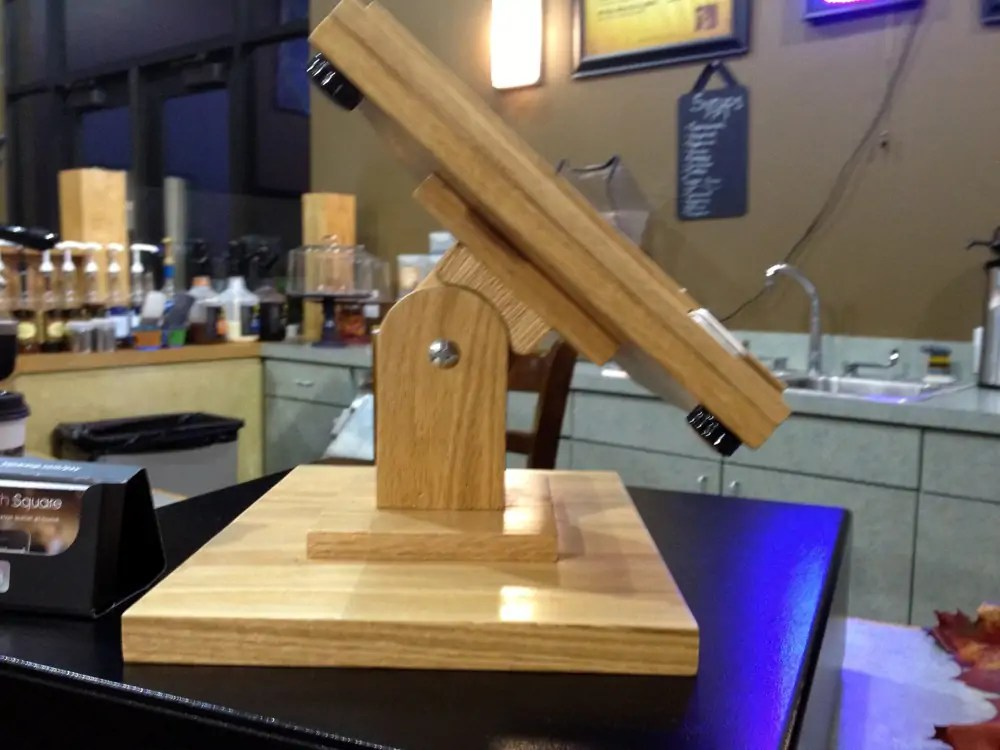 diy wood ipad stand