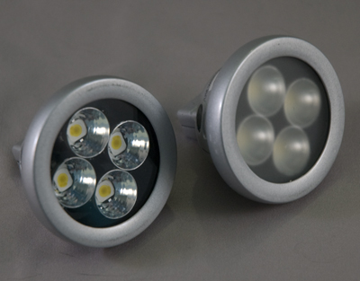 This now obsolete Color Kinetics MR16 repalcement lamp produced similar performance to the generic MR16 replacement, and have been replaced with better performing products.