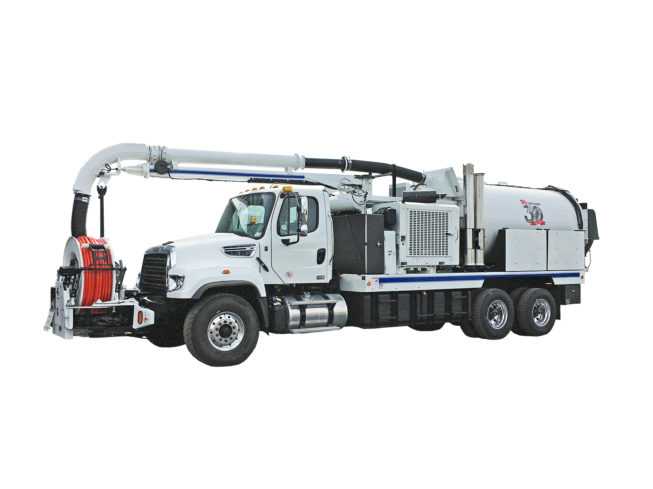 Pumps Power Street Sweeper Waste Management Content From Hydraulics
