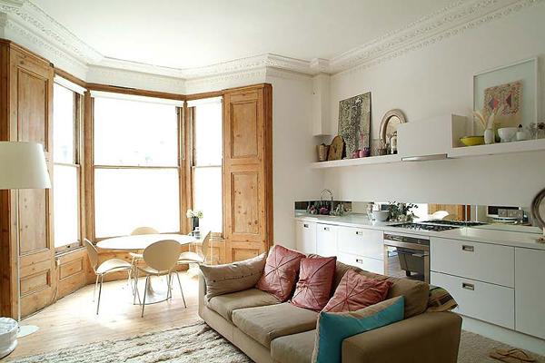 Open Plan Small Open Kitchen Living Room Design Novocom Top