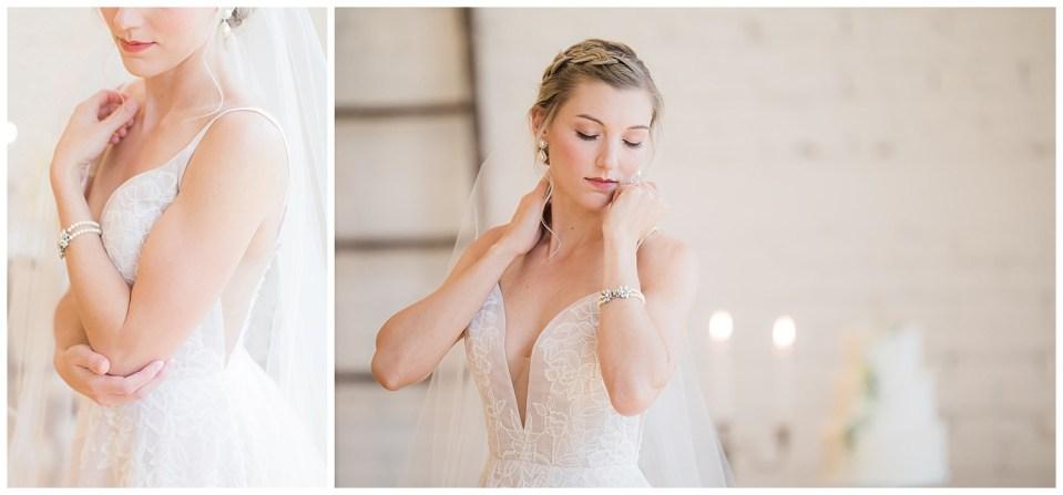 Details of bride wedding dress.