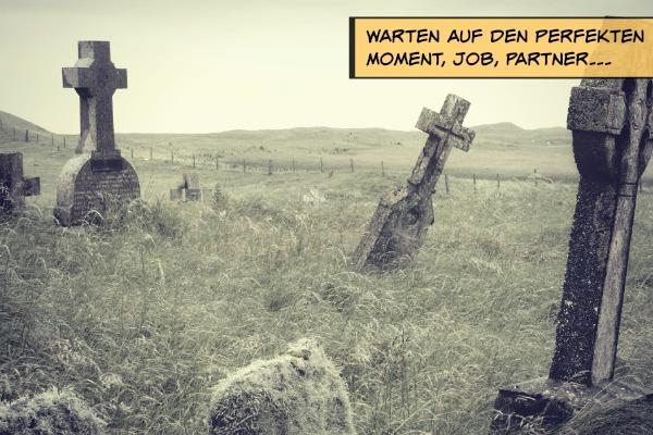 warten auf den perfekten Moment - Friedhof