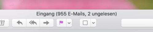 Screenshot E-Mail-Postfach mit 955 E-Mails