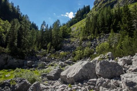 7 Lakes Valley, Triglav meren. Landschappen in Slovenië.
