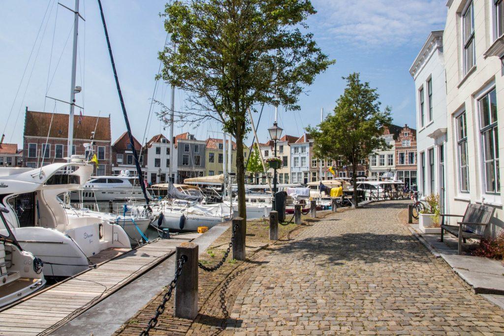 Goes, Zeeland. Havenstad in Nederland.