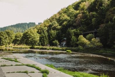Maboge plage. Ardennen België. Zwemvijver Ardennen.