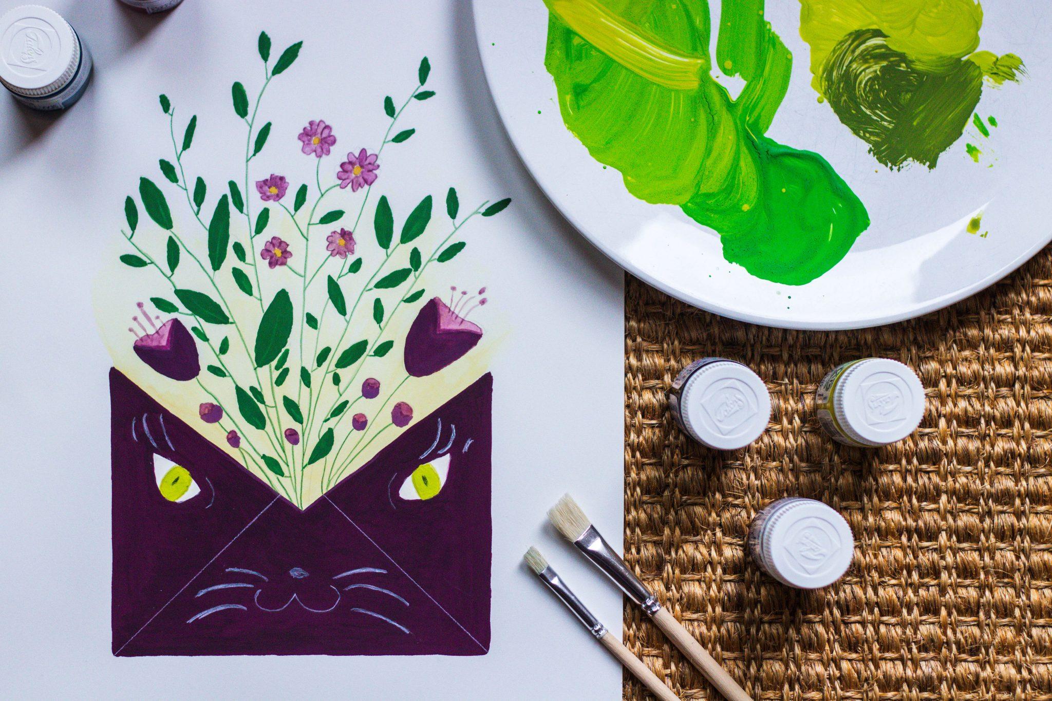 Creatief met gouache: cadeautje voor mezelf
