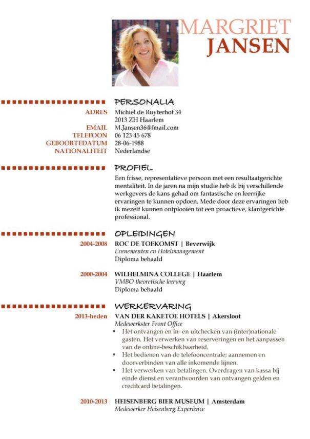 cv voorbeeld oxford (red hot) 1/2, beste cv sjabloon, unieke curriculum vitae, pagina 1