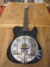"""Now with a happy owner in Japan who says"""" Very satisfied with it and proud that I am the first owner of a Sollophonic Guitar in Japan. Through the amp it sounds crazier than the other resonators I have ever played. I really love it."""""""