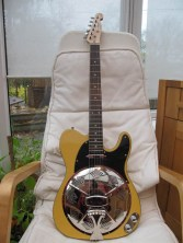 """ingle Bound Butterscotch with chickenfoot coverplate. Now on its way to Germany as a present """"Guitar is fine, my German friend will love it"""""""