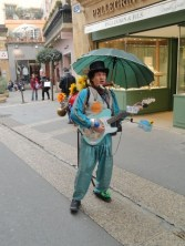 A surf blue Sollophonic being played on the streets of Provence by Fergus Mckay, who is Bandolino, a one man band. Check out his website on my Links page.