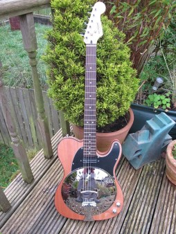 """Bound mahogany """"Rough 'N' Ready series with rosewood board neck. New owner had it bought for him as an Xmas present, and his mum says """"""""Thanks Andy, He is delighted with the guitar and I have to say it is a beautiful piece of work. All the best to you for 2018. Regards"""""""