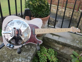 """Now residing in Spain with its new owner who said """"I received my guitar yesterday. I have been able to try it already and I'm really pleased with it. It plays great, its sound is astounding. You have made a really good job. Thank you very much indeed."""""""