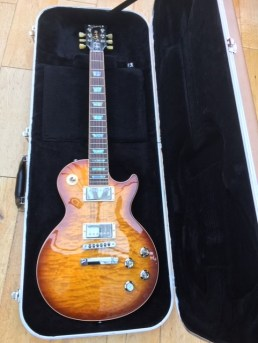 Look at the flame top on this Les Paul Custom Shop! Another one given a good set up and restring plus a quick electrics repair so that its owner could enjoy it during lockdown. Stunning