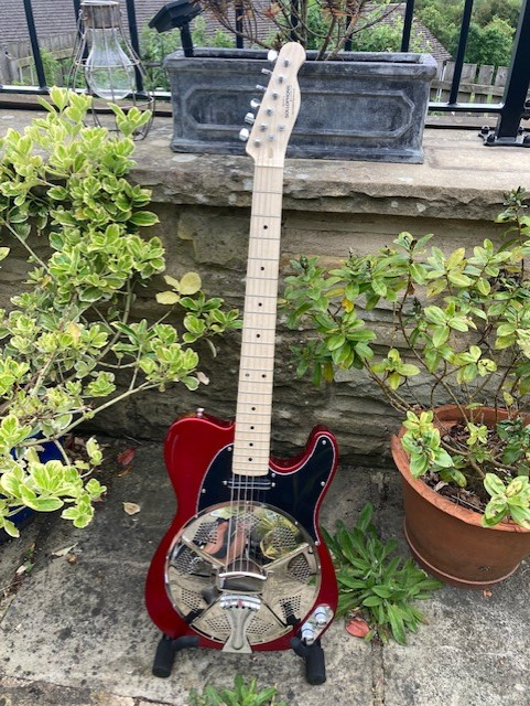 Candy Red, Maple Neck, Hotrail Pickup, Black Pickguard