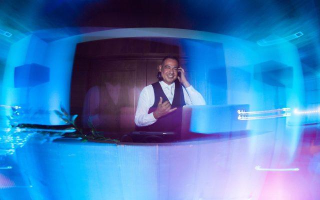 DJ Del Sol of Sol Maui Events DJing a wedding after party