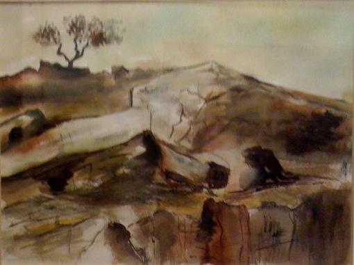 """Eifel"", 1987, Aquarell, 32 cm x 24 cm"