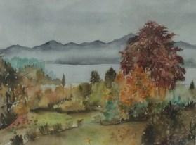 """""""Rolandseck"""", 1985, Aquarell, 46 cm x 35 cm"""