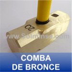 COMBA DE BRONCE ANTICHISPA WWW.SOLMINSA.COM TELEFONO 2522207