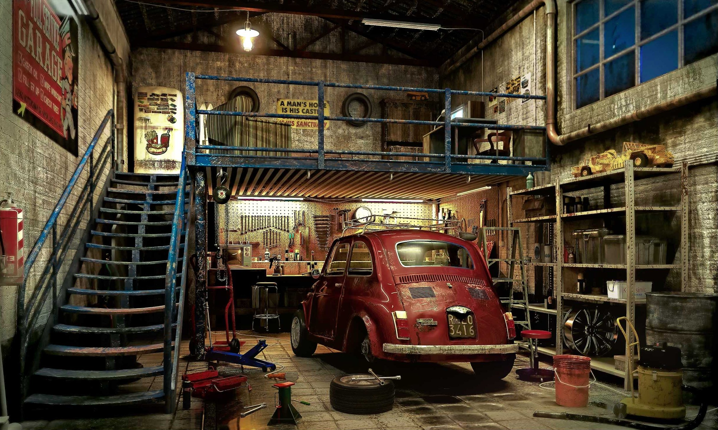 Wallpaper Night Car Race Jaguar Garage Picture Of The Day