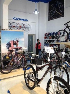 Interior nueva tienda Orbea