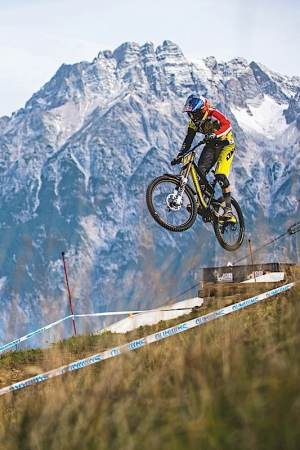Downhill at the 2013 Leogang UCI MTB World Cup Finals, Austria.