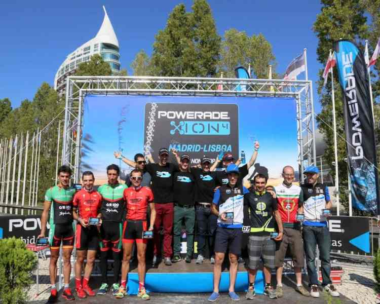 Podios Powerade ION4 Madrid - Lisboa MTB Non Stop