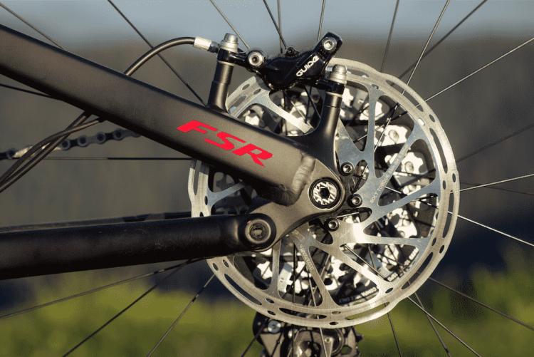 La Levo Stumpjumper FSR ofrece los mismos 135 mm