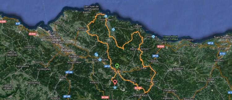 Mapa GF BIBE Transbizkaia