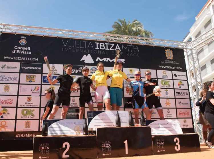 Podio femenino Vuelta a Ibiza 2018