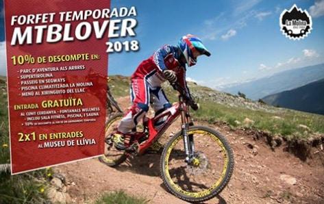 Forfait MTBLover de la Molina BikePark