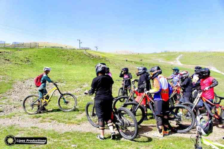 curso downhill femenino