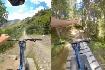 Boulard descenso sin manos Bike Park de Chatel