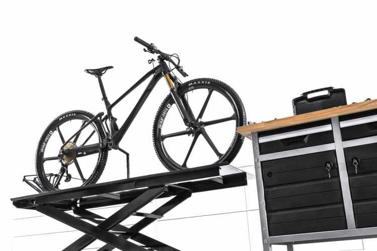 Ruedas de palos en un prototipo de Mondraker