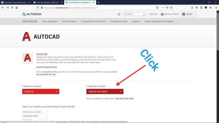 autocad student version download