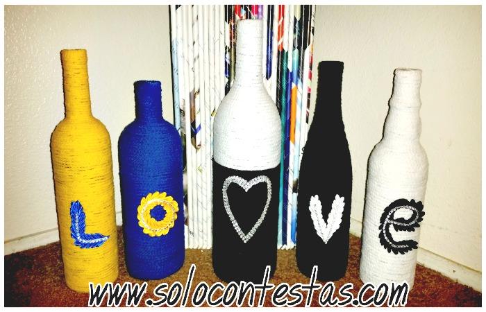 Como Decorar Una Botella De Vidrio Calabaza Y Piñas De