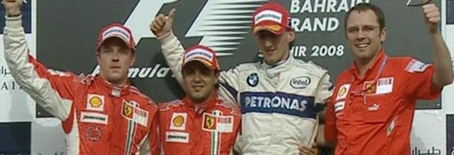 1º Massa 2º Raikkonen 3º Kubica