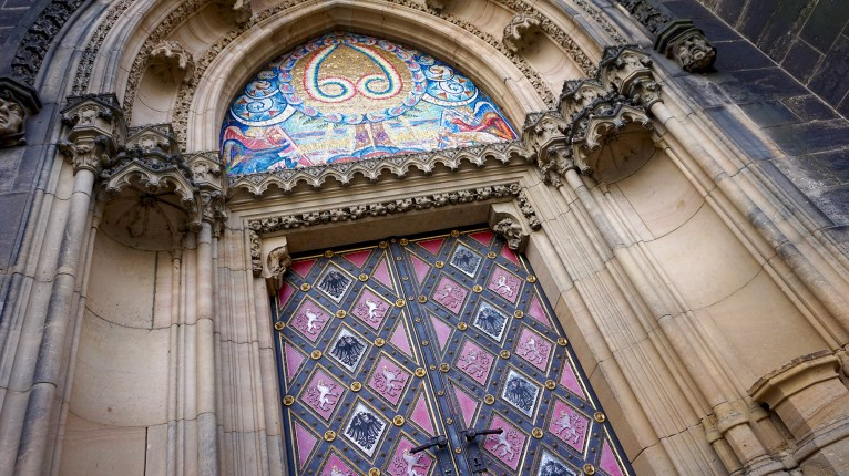 Door of St. Peter and Paul Cathedral at