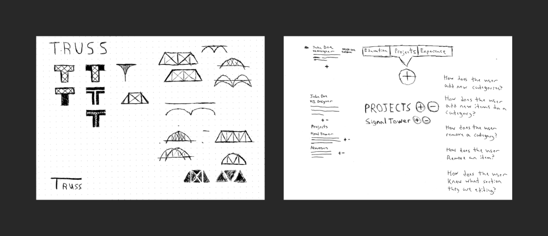 Truss Branding Sketches