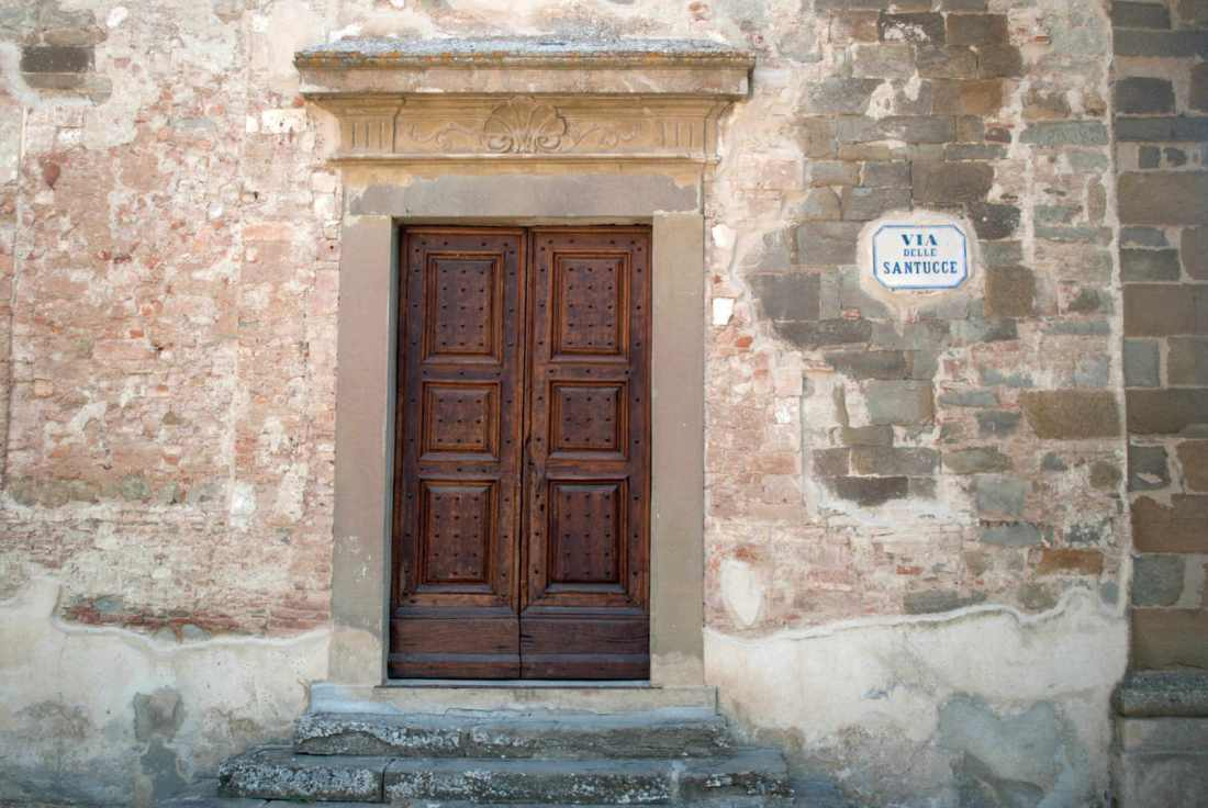 Doorway to the University of Georgia's Cortona Campus