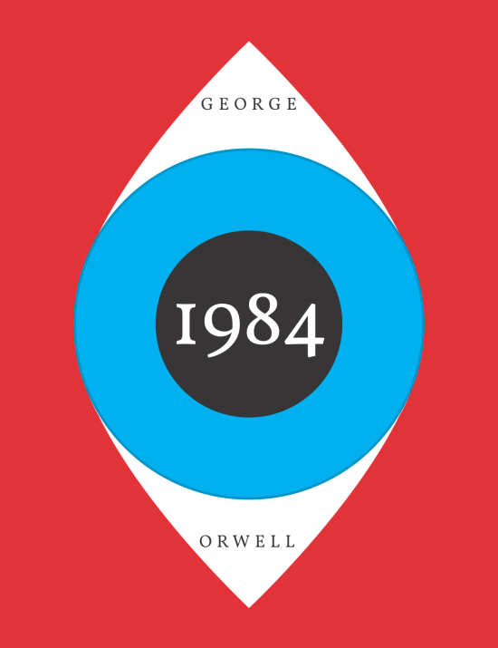 1984 Book Cover Eye