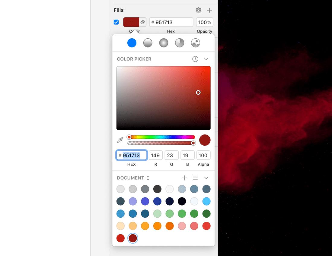 Sketch Color Palette Unorganized
