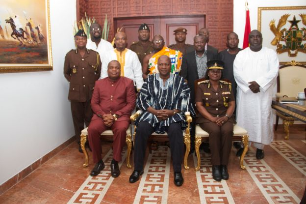 Prisons Council with H. E. John Dramani Mahama at the Flags Staff House