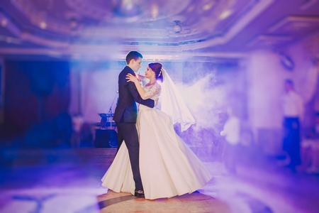 43987452 - romantic couple dancing on their wedding hd