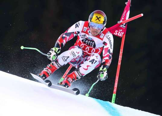 ALTA BADIA,ITALY,20.DEC.15 - ALPINE SKIING - FIS World Cup, giant slalom, men. Image shows Marcel Hirscher (AUT). Photo: GEPA pictures/ Wolfgang Grebien