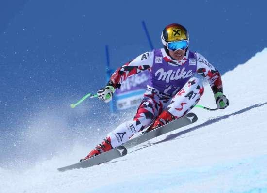 SANKT MORITZ,SWITZERLAND,17.MAR.16 - ALPINE SKIING - FIS World Cup Final, Super G, men. Image shows Marcel Hirscher (AUT). Photo: GEPA pictures/ Harald Steiner