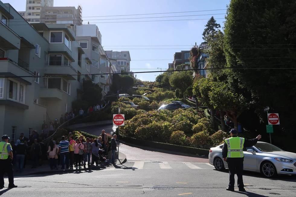 Lombard Street Verkehr