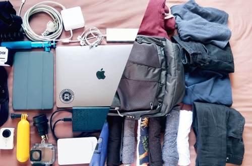 Handgepäck für Reisevlogger