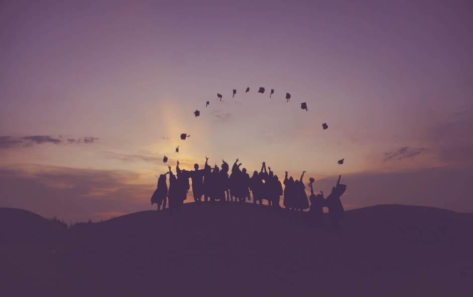 Jubelnde Schüler